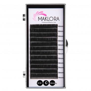 Maklora İpek Kirpik C Kıvrım 0.10 Kalınlık 14mm Uzunluk 12 Sıra