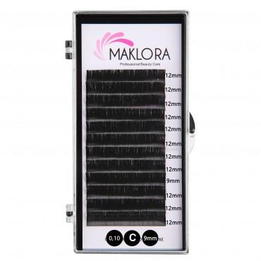 Maklora İpek Kirpik  C Kıvrım  0.10  Kalınlık 9mm Uzunluk 12 Sıra