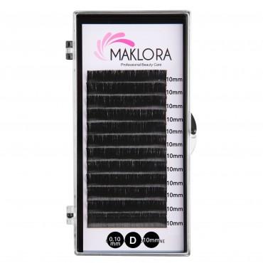 Maklora İpek Kirpik D Kıvrım 0.10 Kalınlık 10mm Uzunluk 12 Sıra