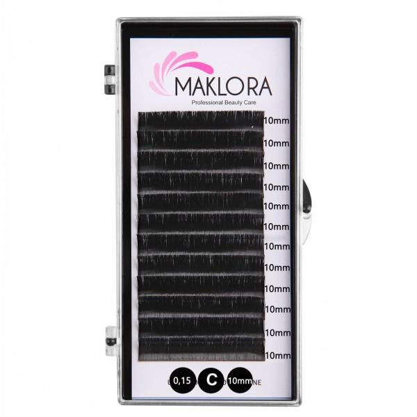 Maklora İpek Kirpik C Kıvrım 0.15 Kalınlık 10mm Uzunluk   12 Sıra