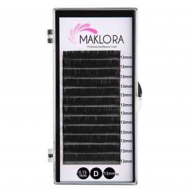 Maklora İpek Kirpik D Kıvrım 0.15 Kalınlık 13mm Uzunluk 12 Sıra