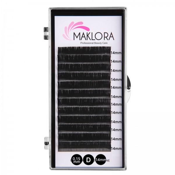 Maklora İpek Kirpik   D Kıvrım 0.15 Kalınlık  14mm uzunluk 12 Sıra